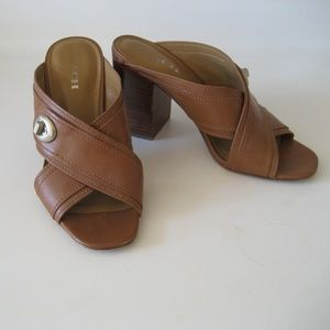COACH leather sandals heels 10